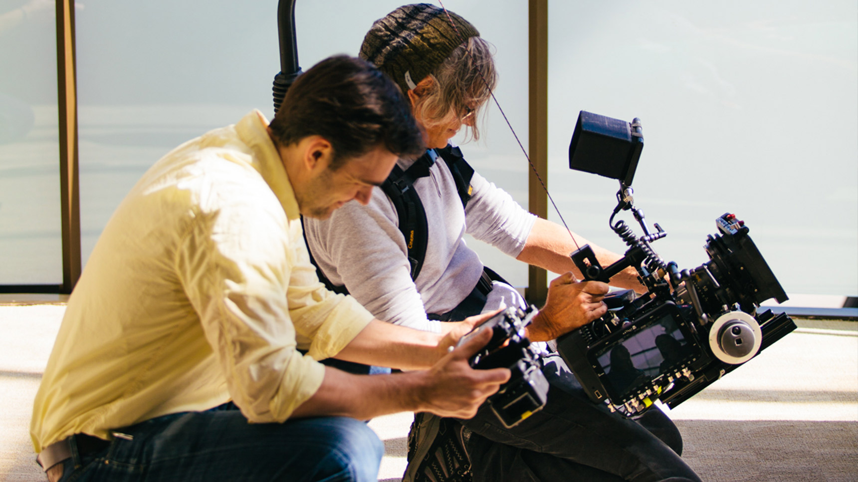stonecastle director and cinematographer shoot a scene at the hospital